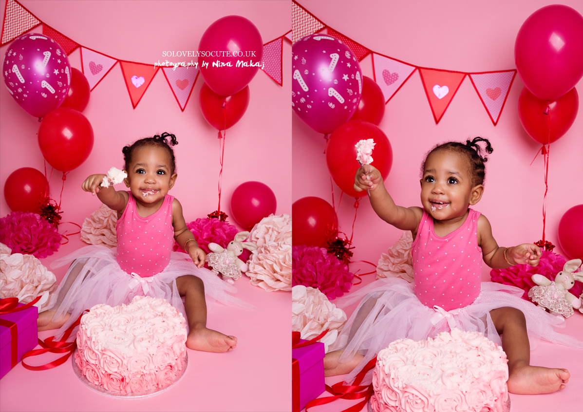 smash cake photo session birmingham